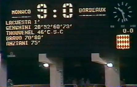 Saison 84/85 Monaco - Bordeaux 9-0