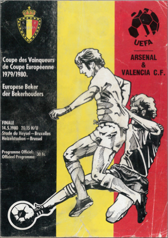 Football: Arsenal vs Valencia 1980