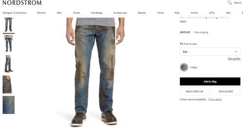 Nordstrom Dirty Mud Jeans